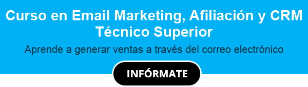 Curso en Email Marketing, Afiliación y CRM Técnico Superior
