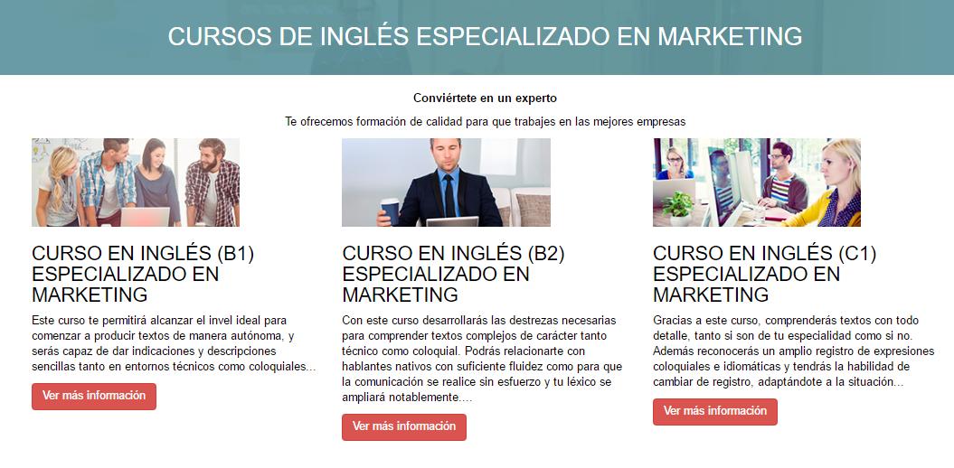 Cursos de inglés IIMN