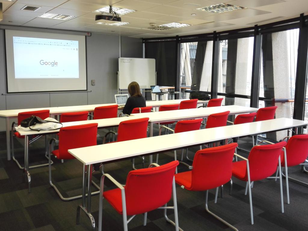 instalaciones de el aula del Máster de marketing digital