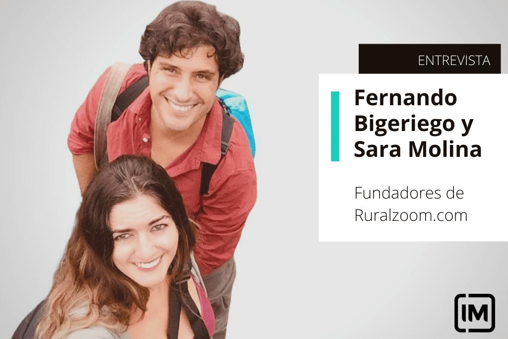 Fernando Bigeriego y Sara Molina Valor, alumnos de IM y fundadores de Ruralzoom