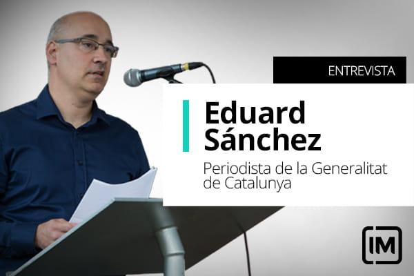 Eduard Sánchez, alumno de IM y periodista de la Generalitat de Catalunya