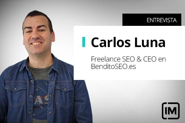 Carlos Luna, alumno de IM y Freelance SEO & CEO en BenditoSEO.es