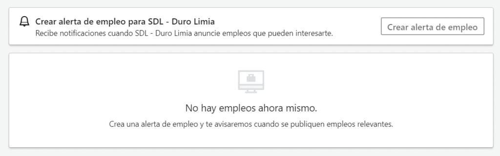 alerta trabajo linkedin